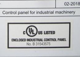 UL-Zertifizierung 2018 für Automatisierungstechnik